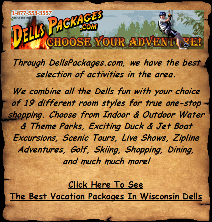 The best discount vacation packages in Wisconsin Dells as featured by DellsPackages.com